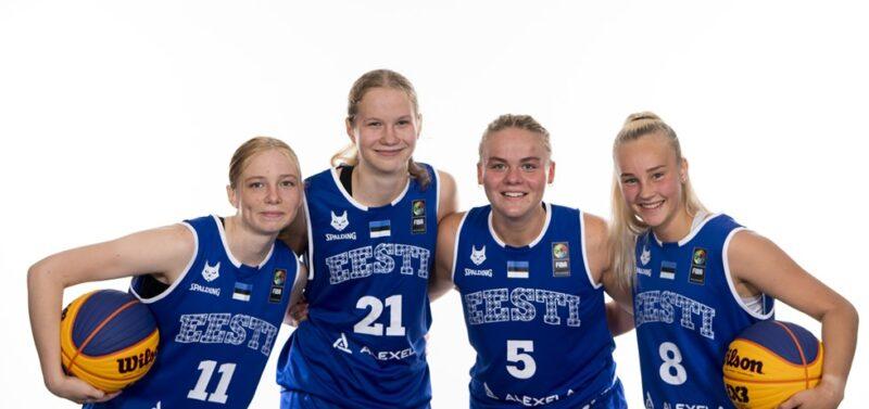 Eesti U18 3x3 koondis 2021